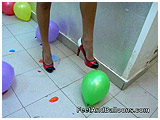 foot popping balloons