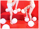 Video clip for sale of Alexxia and Atish in a foot popping race