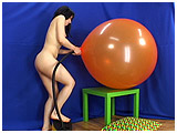 popping balloons by overinglation with a foot pump