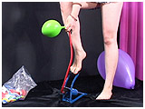 foot pumping balloons