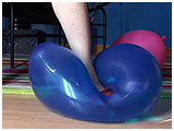 Video clip for sale of Lizzie foot-popping balloons