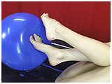 Video clip of Ava's super-cute feet on a tight balloon