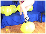Video clip for sale of Lydiah foot-popping in strappy heels