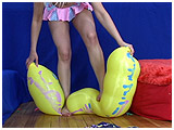 Video clip for sale of Scarlette foot-popping balloons