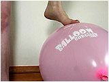 Video clip for sale of Xev teasing balloons with her bare feet