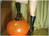 Video clip for sale of Victoria foot-popping in tall boots