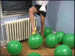 Sneaky Kitty's Foot Popping Balloon Fetish Video