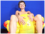 Video clip for sale of Alice deflating an inflatable lobster