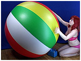 Video clip of Xev playing with a huge beach ball