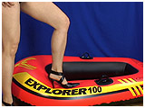 Video clip of Ruby having a small accident with an inflatable boat