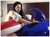 pool toy play