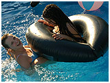 Inflatables in the pool