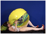 Video clip for sale of Kate inflating a beachball