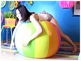Video clip for sale of Marcy's only beachball clip