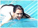 Video clip for sale of Mina in the pool on an air mat