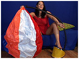 Video clip for sale of Kedra pump-inflating a Sevylor beach ball