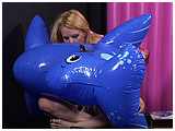 inflatable blue walrus