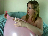 Video clip for sale of Xev inflating and then cig-popping a 20-inch balloon