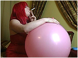 Video clip for sale of Xev smoking, and cig-popping 20-inch round balloons