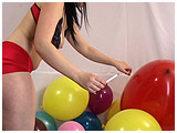 Video clip for sale of Lydiah cig-popping a lot of balloons