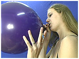 Non-popping video clip of Ava smoking and inflating
