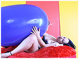 Video clip for sale of Kedra with a cigarette and giant Italian blimp balloon