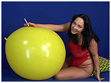 Video clip for sale of Kedra smoking while playing with a balloon