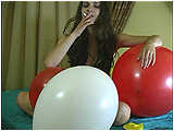 Video clip for sale of Andi cig-popping balloons