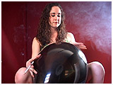 Video clip for sale of Michelle smoking while playing with a balloon