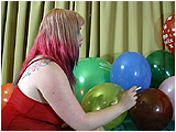 Video clip for sale of Xev cig-popping balloons