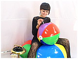 Video clip for sale of Alice cig-popping a beachball