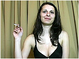 Video clip for sale of Andi smoking a cigarette while inflating small Malaysian balloons