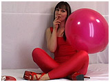sexy smoking with balloons