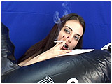 Video clip for sale of Atish smoking while blowing up an inflatable killer whale