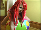 Video clip for sale of Xev deflating a beach ball