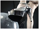 Video clip for sale of Alexxia foot-popping in stiletto heels