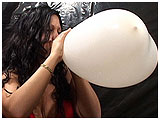 Video clip for sale of Annie demolishing a heart shaped balloon
