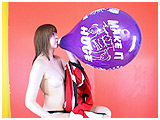 Video clip for sale of Cassie blowing to pop balloons