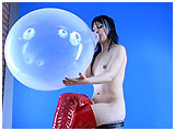 Video clip for sale of Debby blowing to pop an 18-inch clear balloon