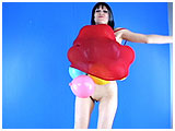 Video clip for sale of Debby balloon-stuffing her dress