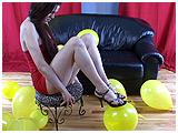 Video clip for sale of Kitsune foot-popping balloons