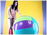 Video clip for sale of Lee pumping up a beachball