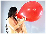 Video clip for sale of Malacia inflating a red balloon