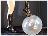 Video clip for sale of Mina boot-playing with a big Qualatex balloon