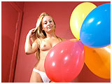 Video clip for sale of Serena foot-playing with a red balloon