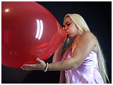 Video clip for sale of Skylar blowing to burst a balloon