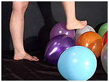 Video clip for sale of Tina foot-popping balloons