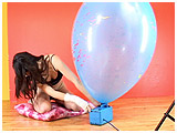 Video clip for sale of Alexxia using a pump on a Chinese balloon