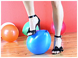 Video clip for sale of Heidi foot-popping balloons