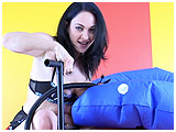 Video clip for sale of Kedra pumping up a blue swimring